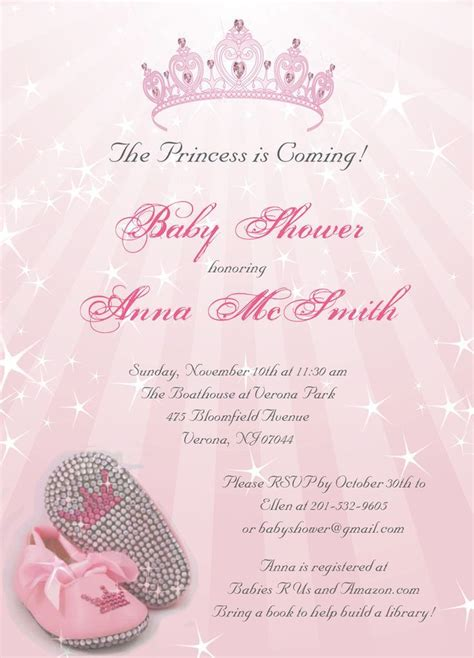 invites for baby shower girl princess baby shower invitations princess baby showers