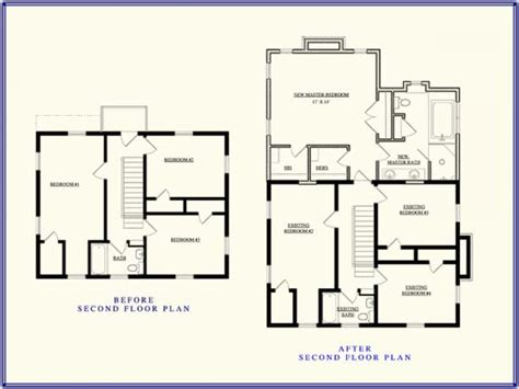 Second Story Additions Floor Plans | second story addition floor plan up stairs addition ideas