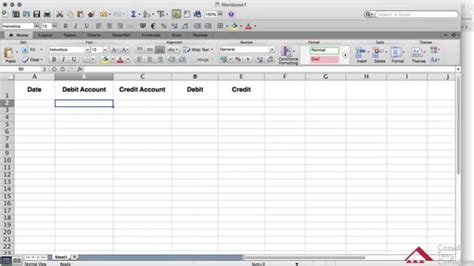 create a general ledger using excel
