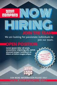 now hiring poster template hiring poster templates postermywall