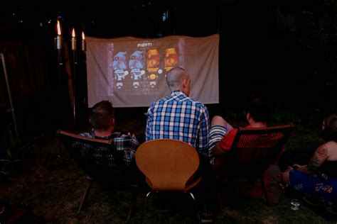 backyard movie night projector outdoor movie night diy murphy goode winery
