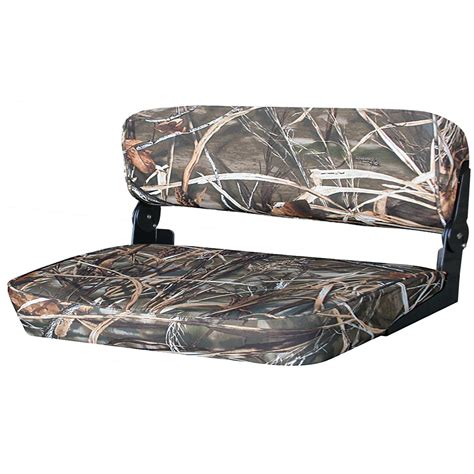 bench seat boat wise 174 folding duck boat bench seat mossy oak break up 219584 fold down seats