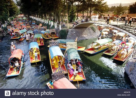 floating gardens  xochimilco mexico city mexico stock