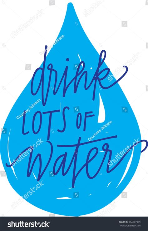 lots of water drink lots of water stock vector illustration 194527949