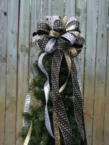 bow topper for tree tree top bow for large animal print tree