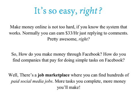 The Easiest Way To Make Money Online For Free - how to make money on facebook the easiest way to make money with fac