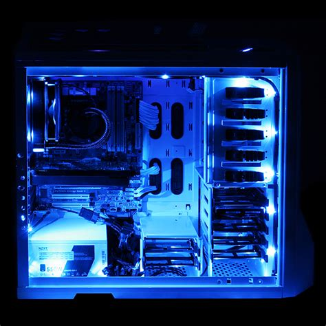 led lights pc nzxt cb led1 b sleeved computer led light kit