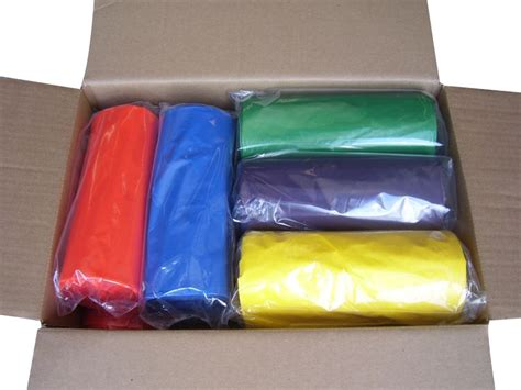 33 gallon 33 quot x39 quot 2 0 mil lld colored trash bags can