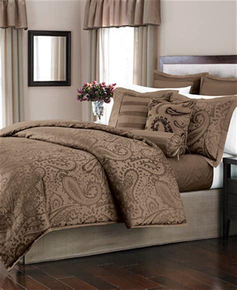 22 piece comforter set martha stewart collection gemstone paisley cocoa 22 piece