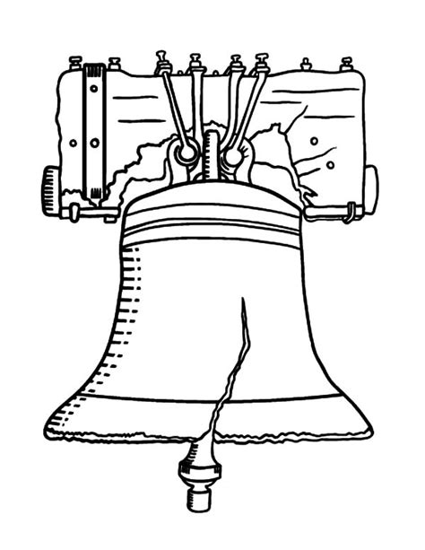 Liberty Bell Coloring Page Printable by Liberty Bell Page Coloring Pages