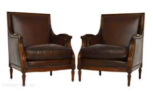 antique leather armchairs pair of antique mahogany leather armchairs antiques atlas