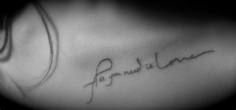 tattoo love is all quot all you need is love quot tattoo it s cute dmb pinterest