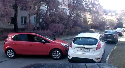opel ford opel corsa smashes into ford fiesta brand rivalry in