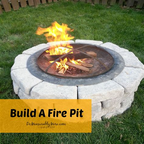 hometalk build a fire pit