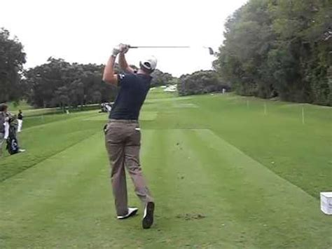 justin rose golf swing video us open chion justin rose golf swing down the line