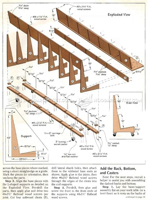 Mobile Lumber Storage Rack Plans by Mobile Plywood Storage Rack Plans Woodarchivist