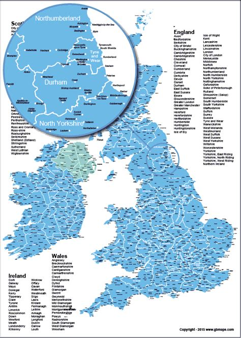 maps showing counties uk county boundary map with towns and cities