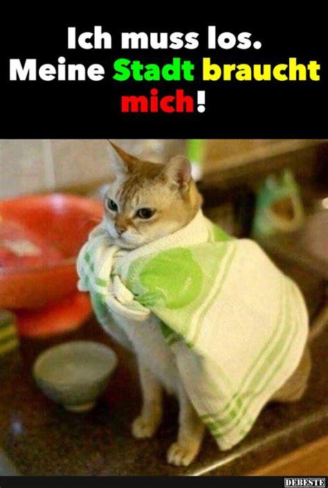 Katzen Meme - ich muss los meine stadt braucht mich so isses