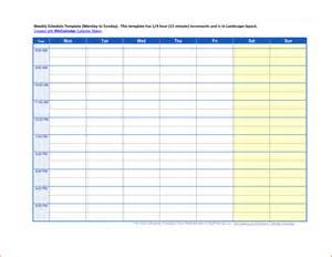 Time Schedule Template by 5 Weekly Time Schedule Template Budget Template Letter