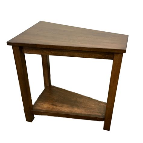 wedge accent table wedge table home envy furnishings solid wood furniture