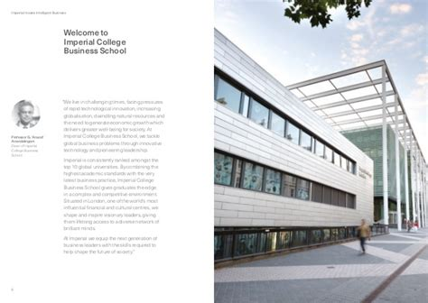Imperial College Global Mba Ranking by Imperial College Business School Time Mba Brochure