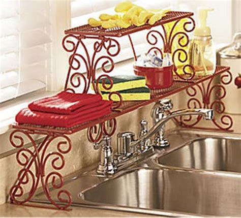 2 tier the sink shelf 2 tier scrolled the sink shelf unassembled