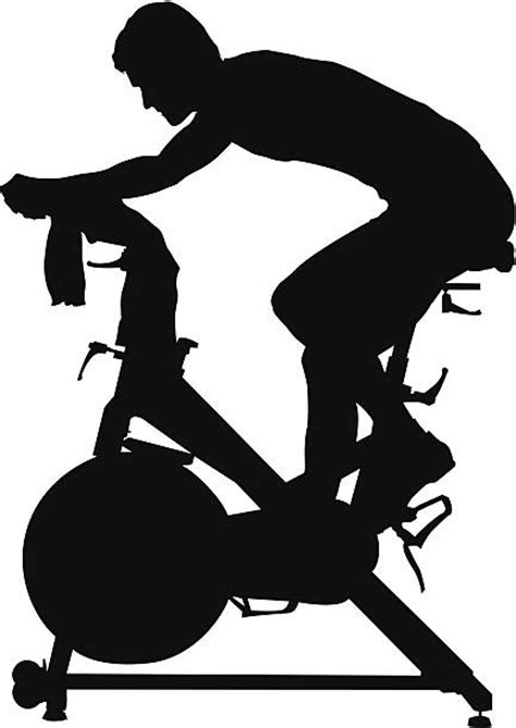 clip on fan for spin bike bicycle clipart indoor cycling pencil and in color