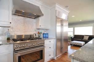 stainless steel appliances white cabinets images