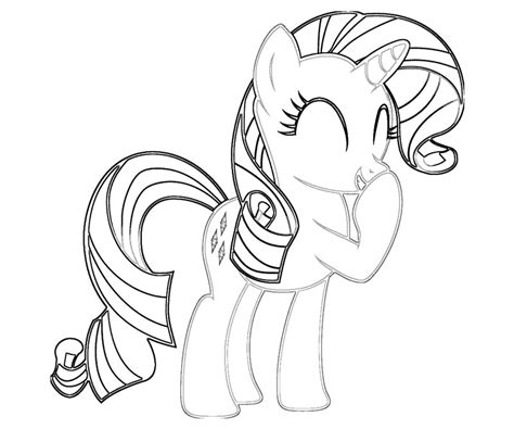 My Little Pony Rarity Coloring Pages Rarity Coloring Pages