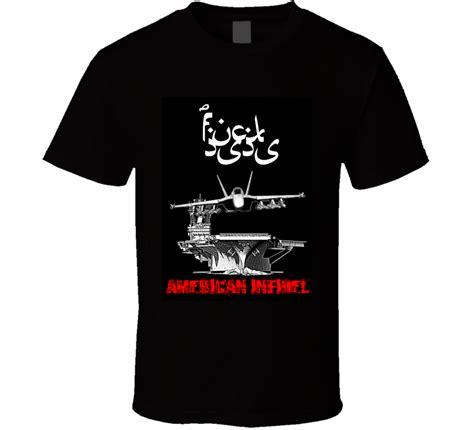 Tshirt Kaos Big Size 3xl 4xl Us Navy Frogman f american infidel f 18 hornet aircraft carrier t shirt