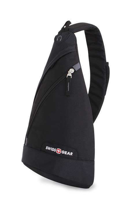 C772 Black Sling Bag swissgear 1818 triangle sling bag