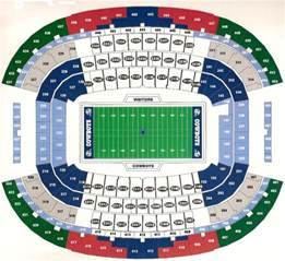 stadium seat map at t stadium arlington tx seating chart view