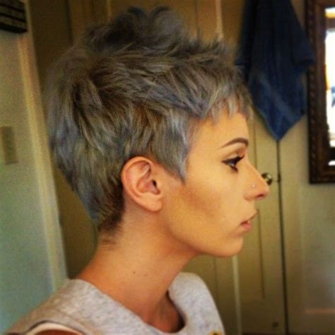 spikey styles for grey hair spiky pixie hair style ideas pinterest grey get