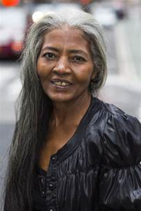with grey hair celebrating women with long grey hair