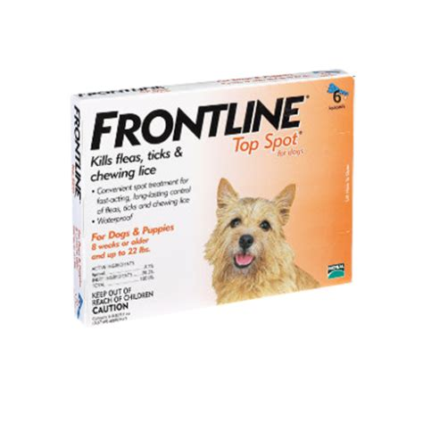 frontline spot on top for dogs frontline spot on top spot for dogs 22 lbs orange 6