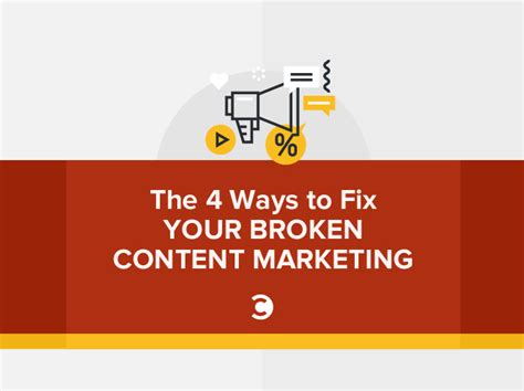 Ways To Fix Your Broken Products by The 4 Ways To Fix Your Broken Content Marketing