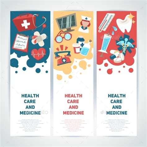 banner layout design inspiration medical vertical banners by macrovector graphicriver