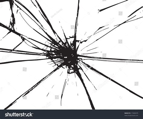 how to repair glass cracks broken glass black cracks on white stock vector 17406979
