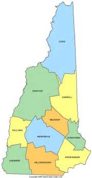 Nh State Map by A Map Of New Hampshire