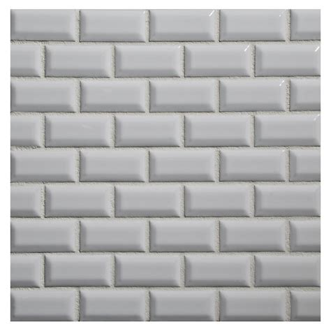 bevel brick white is a white gloss bevel edge wall tile by dimensional mosaic tile ceramics beveled mini brick