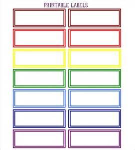color labels printable color coded diy labels