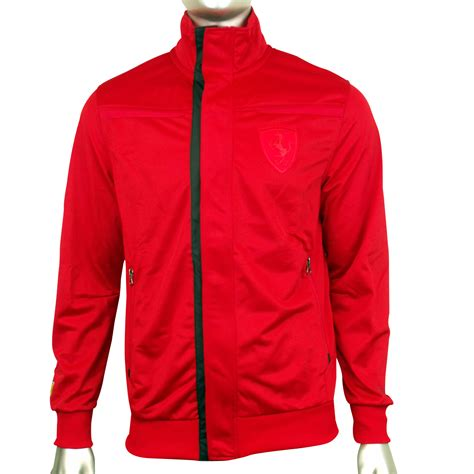 ferrari jacket mens puma scuderia ferrari sf formula 1 red track top