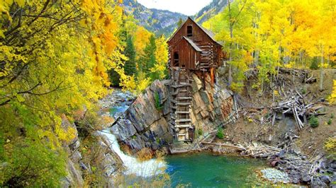 Country Cabins Plans by Crystal Mill Colorado Hd Wallpaper Wallpaperfx