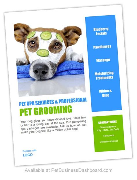 grooming flyers template 99 best images about groomers advertising templates