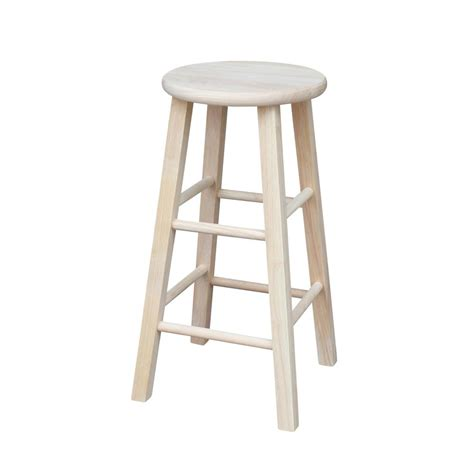 Unfinished Wood Bar Stool International Concepts 24 In Unfinished Wood Bar Stool S 312 The Home Depot
