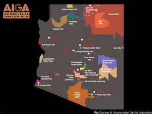arizona casino map indian casinos in arizona map