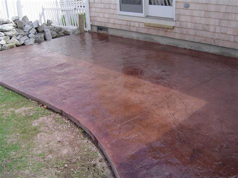 Concrete Colors For Patios by Brushed Concrete Search Backyard Deck Firepit