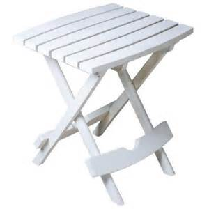 White Resin Patio Table Manufacturing Quik Fold White Patio Side Table 8500 48 3700 The Home Depot