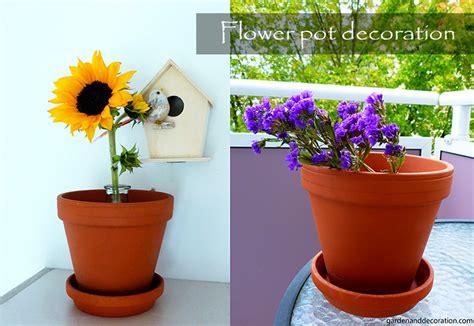Garden Decoration Pots Ideas by 3 Flower Pot Decoration Ideas Garden Decoration