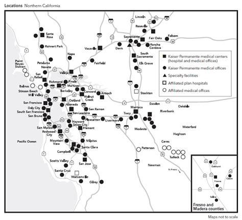 northern california kaiser map kaiser permanente imk
